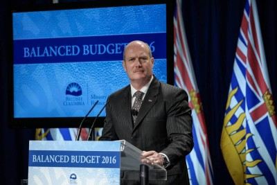 Mike DeJong - BC Provincial Budget 2016