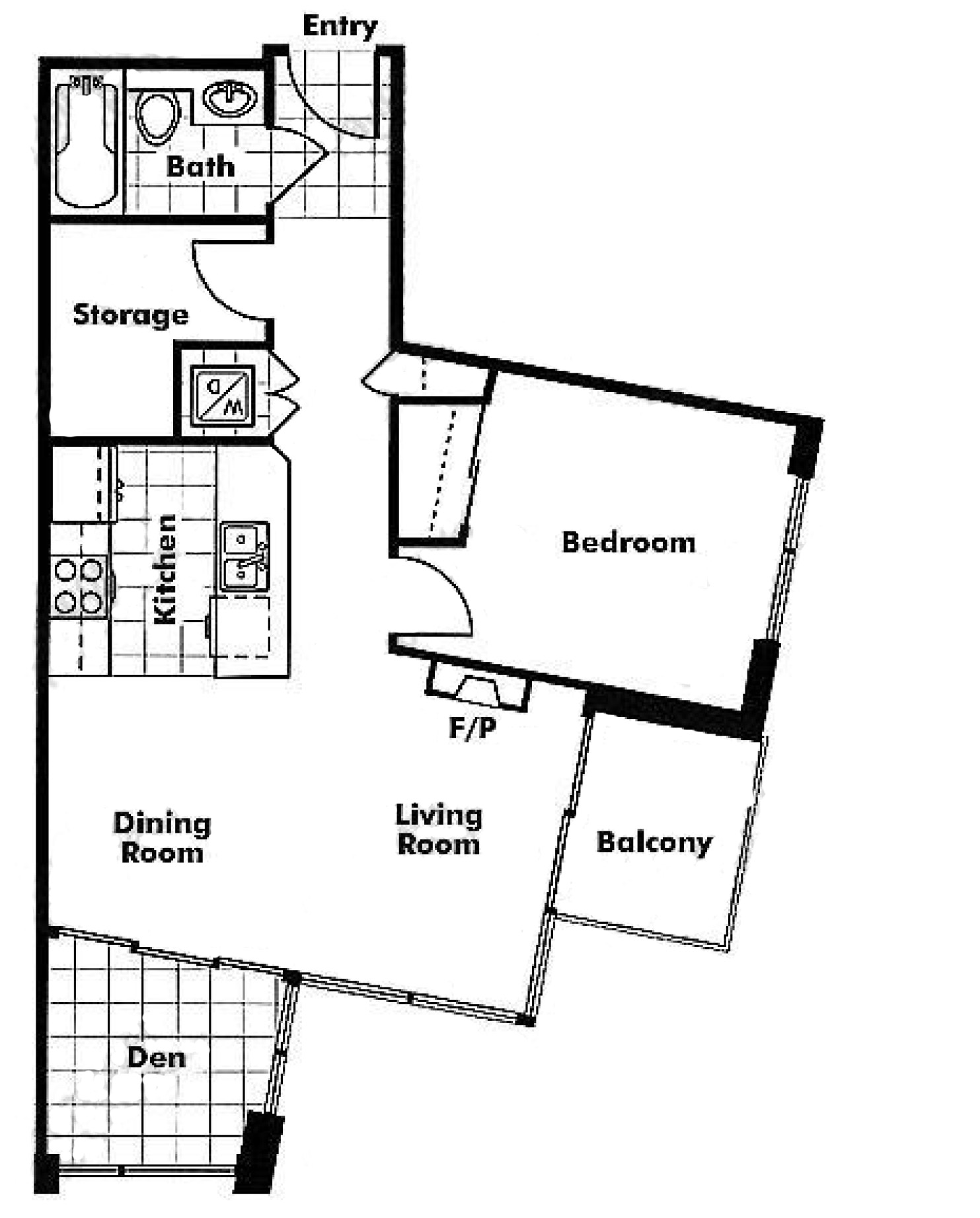 505 - 1189 Melville Street Floor plan
